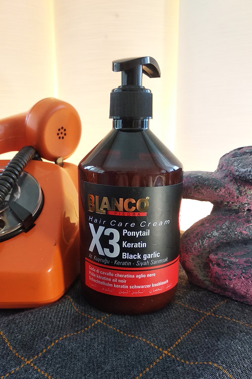 Blanco At kuyruğu - Keratin - Siyah Sarımsak Bakım Kremi 500 ML