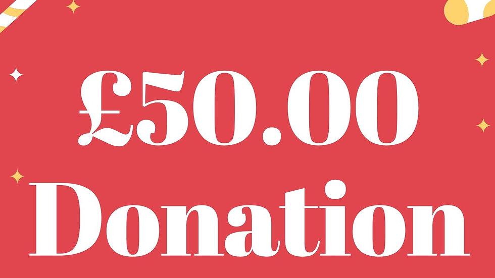 £50 pound  Donation