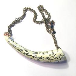Scrimshaw Horn Necklace
