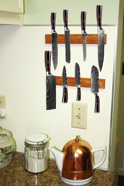 "Set of Two 10"" Magnetic Knife Racks"
