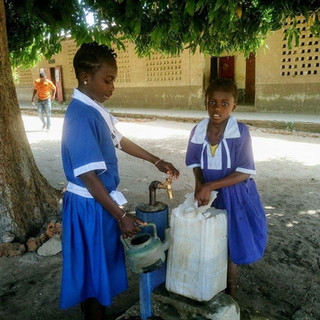 Gambian students get water