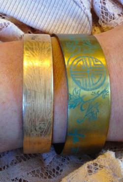 Copper Etched Bracelets