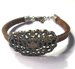 Victorian Leather Bracelet