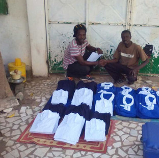 School uniforms for children in The Gambia