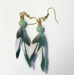 Feather Earrings Short