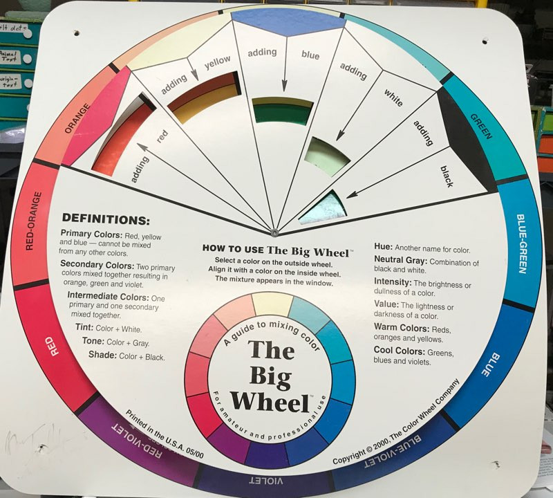 I bought this color wheel from the owner of the Color House when they closed