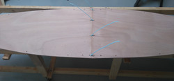 3 Bottom panels stitched tight at centre joint