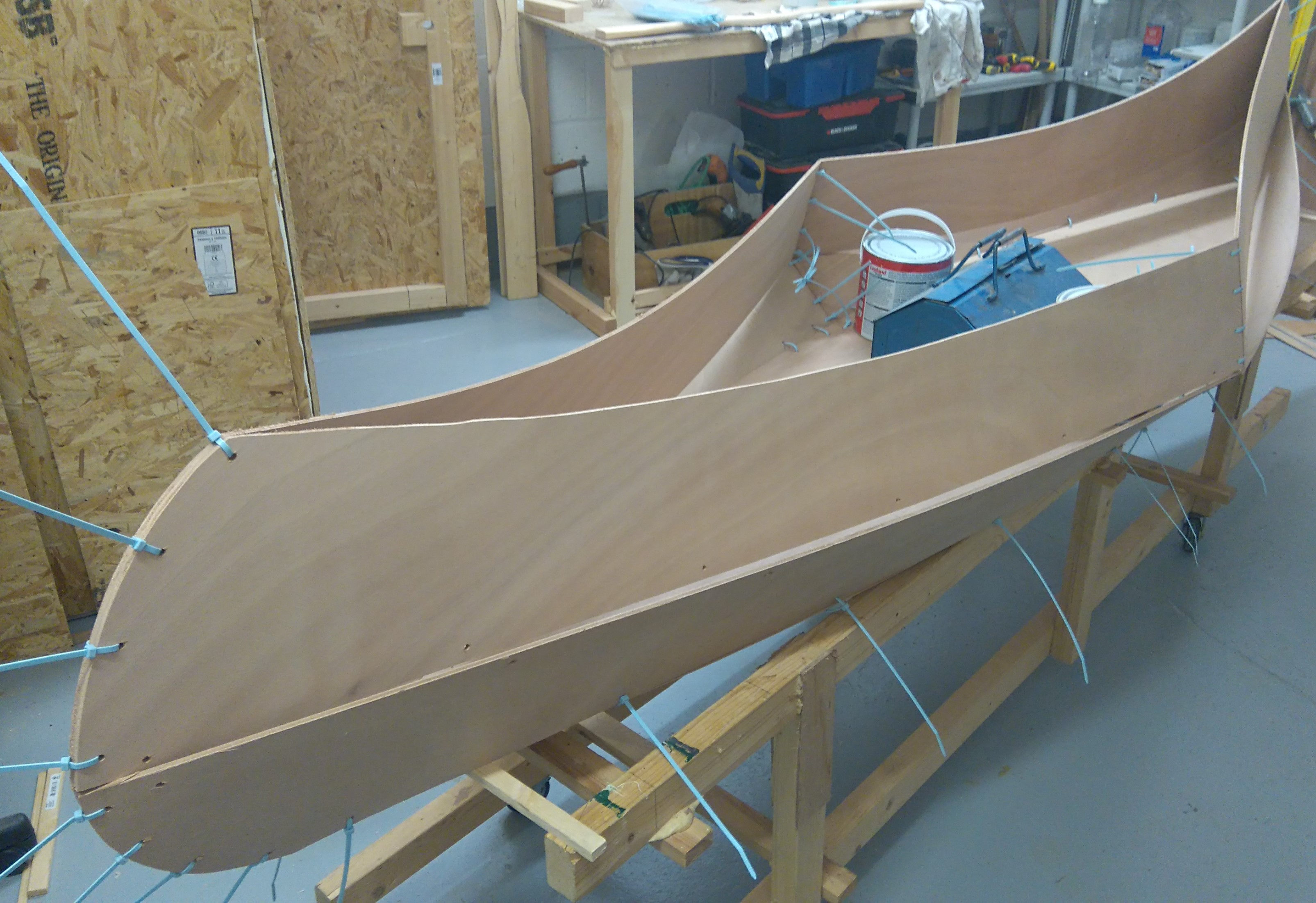 7 Planks 2 laid on ready for stitching