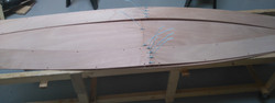 4 Plank 1 panels stitched tight at centre joint