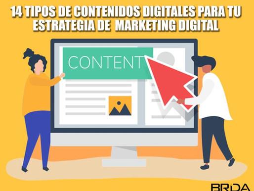 10 Tipos de contenidos digitales para tu estrategia de  Marketing Digital