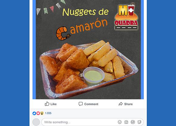 Promoción comida en redes