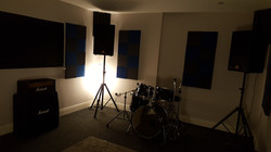 Rehearsal room with Yamaha drums