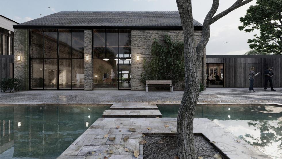 Courtyard Reflection Pool