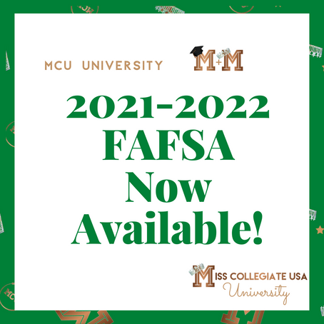 2021-2022 FAFSA Now Available!