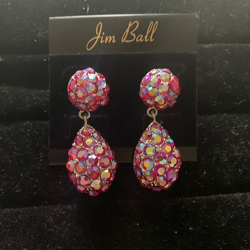 Jim Ball Small Crystal Earrings