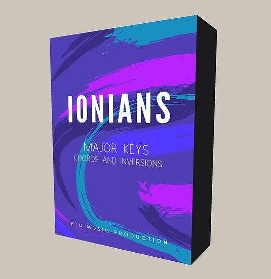 Ionians - Major Keys Chords and Inversions