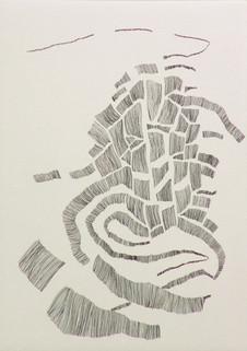 Banele Khoza    2015 etching edition 20 image 21 x 15 cm paper (ivory) 34 x 25 cm