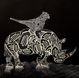 Isebuka se Mvelo (Rhino and Bird)