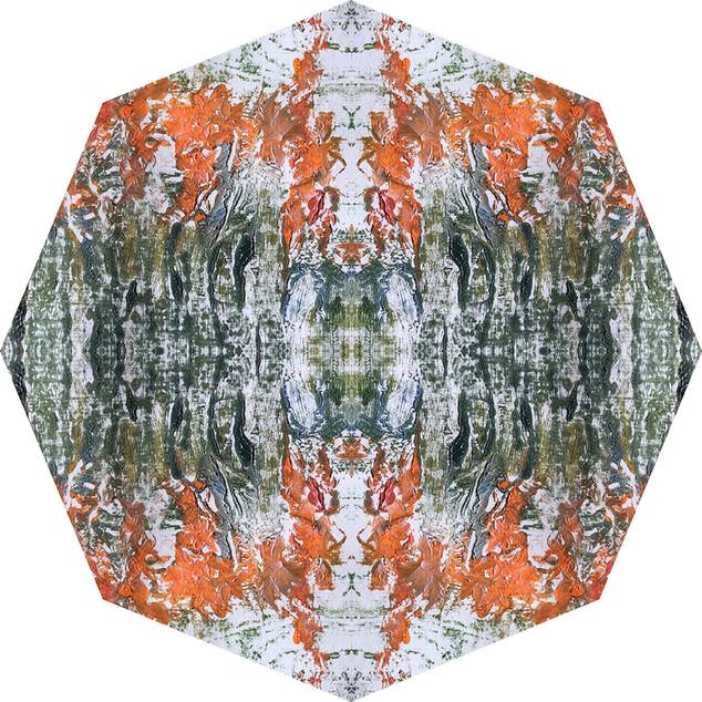 The orange flowers
