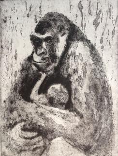 Gorilla mother