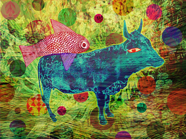 The Cow, The Fish & The Very Small Blue Dot