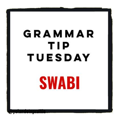 Grammar Tip Tuesday