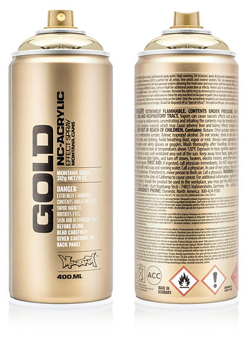 Montana GOLD Spray Paint 400ml Gold Chrome