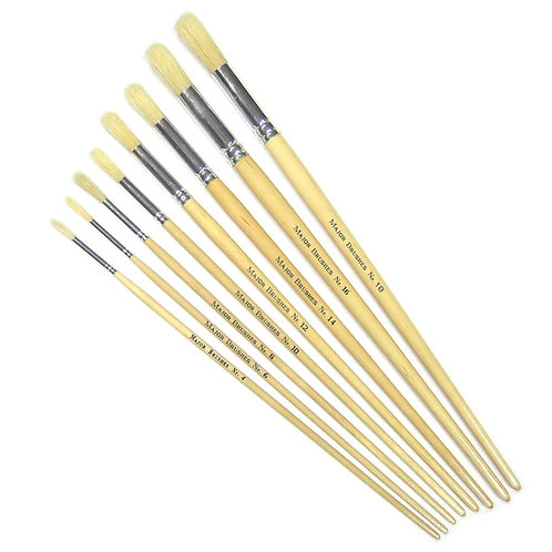 School Value Hog Brushes - Round Pack of 10