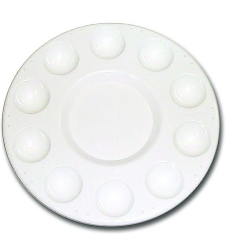 10 Well Circular Mixing Plastic Palette