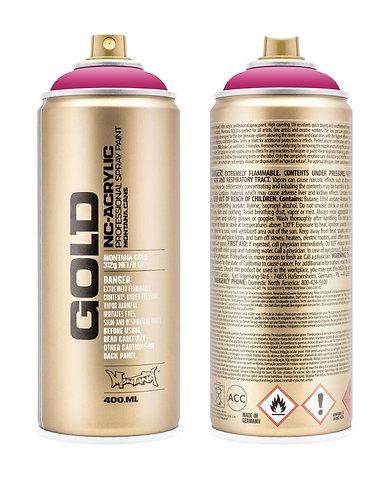 Montana GOLD Spray Paint 400ml Shock Pink