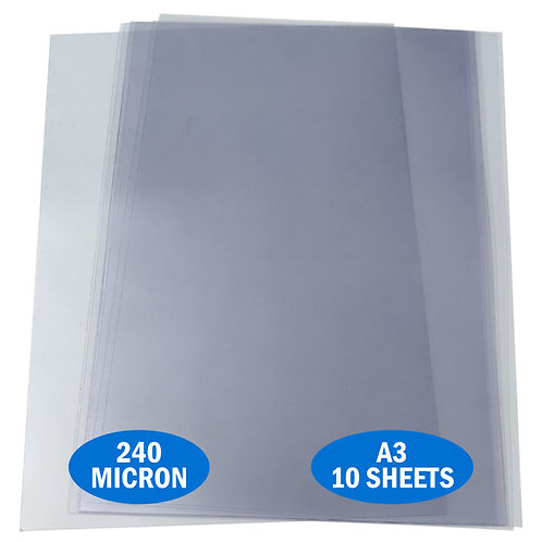 A3 PVC Acetate 240micron Pack 10 Sheets
