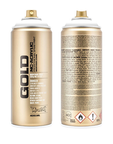 Montana GOLD Spray Paint 400ml Shock White