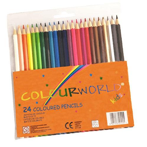 Colourworld Coloured Pencils Set of 24