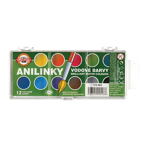 Anilinky Brilliant Watercolour Set of 12