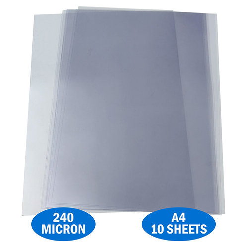 A4 PVC Acetate 240micron Pack 10 Sheets