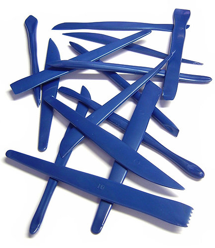 Plastic Clay Tool Set of 14