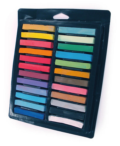 Square Soft Pastels Set of 24 Assorted Colours