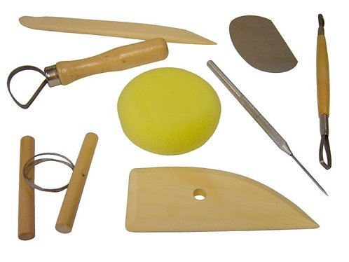 Pottery Tool Kit Set of 8 Pieces