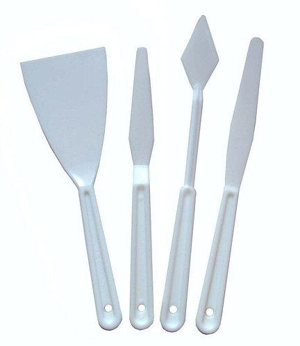 Plastic Palette Knives Set of 4