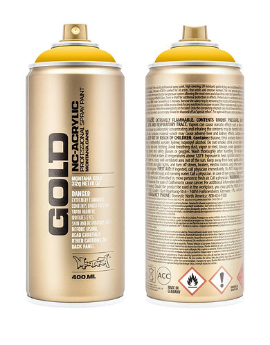 Montana GOLD Spray Paint 400ml Shock Yellow