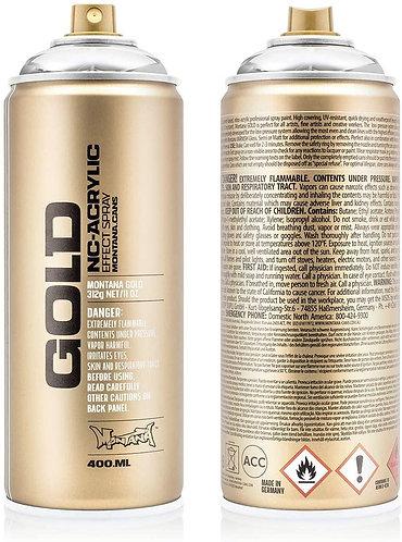 Montana GOLD Spray Paint 400ml Silver Chrome