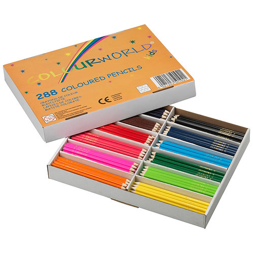 Colourworld Coloured Pencils Class Pack of 288