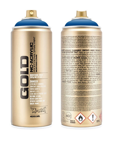 Montana GOLD Spray Paint 400ml Shock Blue