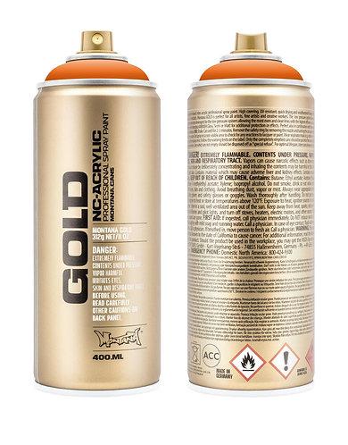 Montana GOLD Spray Paint 400ml Orange