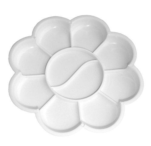 8 Petal Flower Plastic Palette Pack of 10