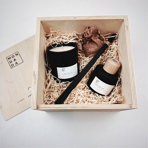 Black candle & diffuser set - Fire me up