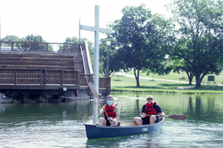Canoeing by the Cross