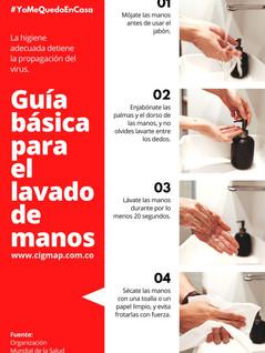 Guía básica para el lavado de manos