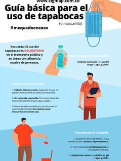 Guía básica para el uso de tapabocas