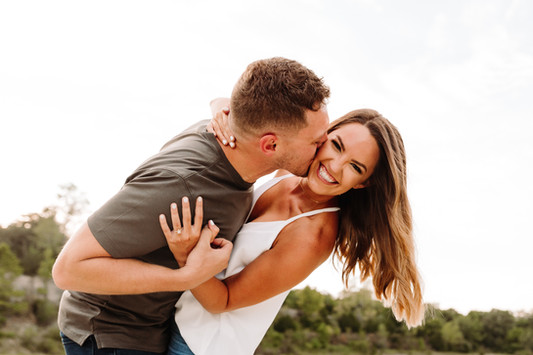 Cute Engagement Outdoor Photo